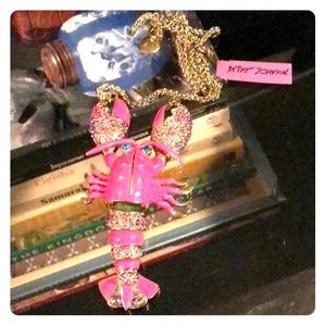 Betsey Johnson lobster necklace NWT.